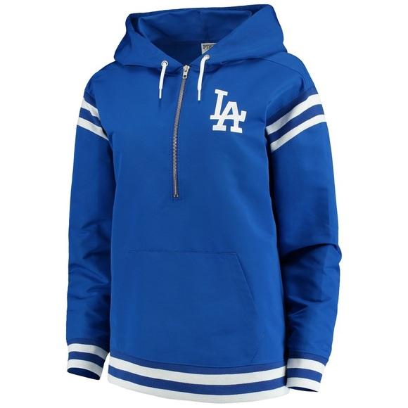 f4e1adc1f7d VS Pink Dodgers Half-Zip Pullover Jacket NWT NWT